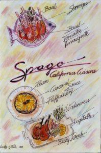 Oscars 2016 Spago California Cuisine Zeichnung Wolfgang